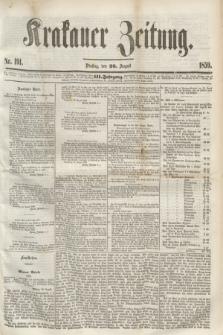 Krakauer Zeitung.Jg.3, Nr. 191 (23 August 1859) + dod.