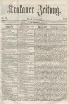 Krakauer Zeitung.Jg.3, Nr. 192 (24 August 1859) + dod.