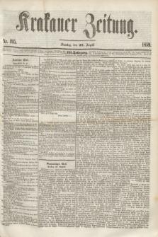 Krakauer Zeitung.Jg.3, Nr. 195 (27 August 1859)