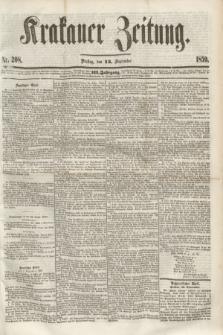 Krakauer Zeitung.Jg.3, Nr. 208 (13 September 1859)