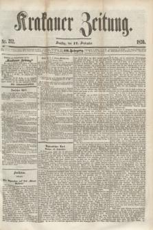 Krakauer Zeitung.Jg.3, Nr. 212 (17 September 1859)