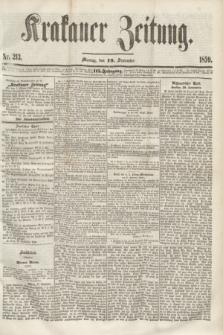 Krakauer Zeitung.Jg.3, Nr. 213 (19 September 1859)
