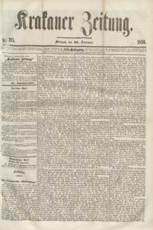 Krakauer Zeitung.Jg.3, Nr. 215 (21 September 1859) + dod.