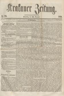 Krakauer Zeitung.Jg.3, Nr. 216 (22 September 1859) + dod.