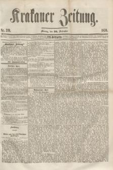 Krakauer Zeitung.Jg.3, Nr. 219 (26 September 1859)