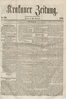 Krakauer Zeitung.Jg.3, Nr. 220 (27 September 1859)