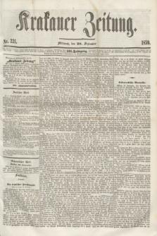 Krakauer Zeitung.Jg.3, Nr. 221 (28 September 1859)