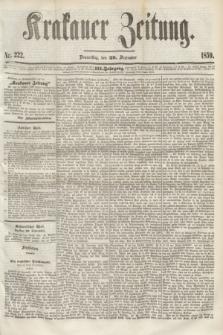 Krakauer Zeitung.Jg.3, Nr 222 (29 Seprember 1859)