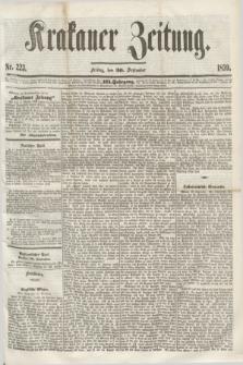Krakauer Zeitung.Jg.3, Nr 223 (30 September 1859)