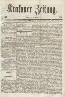 Krakauer Zeitung.Jg.3, Nr. 224 (1 October 1859) + dod.
