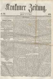 Krakauer Zeitung.Jg.3, Nr. 227 (5 October 1859)