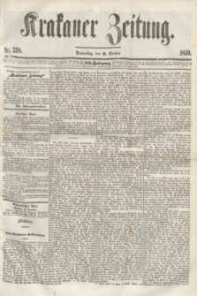 Krakauer Zeitung.Jg.3, Nr. 228 (6 October 1859)
