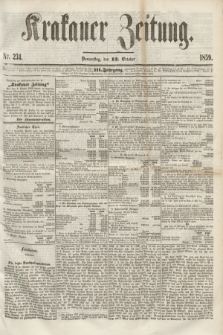 Krakauer Zeitung.Jg.3, Nr. 234 (13 October 1859) + dod.