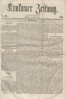 Krakauer Zeitung.Jg.3, Nr. 239 (19 October 1859) + dod.