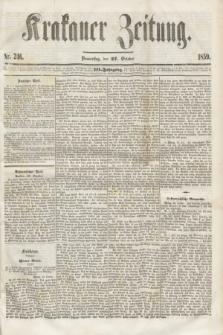 Krakauer Zeitung.Jg.3, Nr. 246 (27 October 1859) + dod.