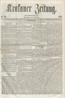 Krakauer Zeitung.Jg.3, Nr. 251 (3 November 1859)