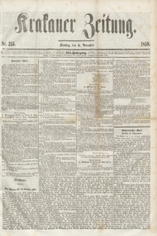 Krakauer Zeitung.Jg.3, Nr. 253 (5 November 1859)