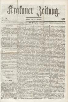 Krakauer Zeitung.Jg.3, Nr. 259 (12 November 1859) + dod.