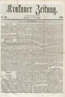 Krakauer Zeitung.Jg.3, Nr. 263 (17 November 1859)