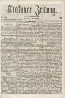 Krakauer Zeitung.Jg.3, Nr. 265 (19 November 1859) + dod.