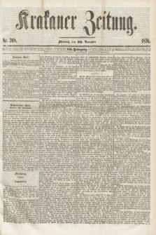 Krakauer Zeitung.Jg.3, Nr. 268 (23 November 1859)
