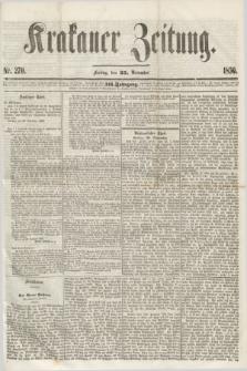 Krakauer Zeitung.Jg.3, Nr. 270 (25 November 1859)