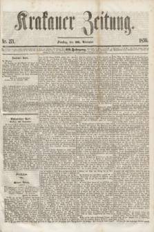 Krakauer Zeitung.Jg.3, Nr. 271 (26 November 1859)