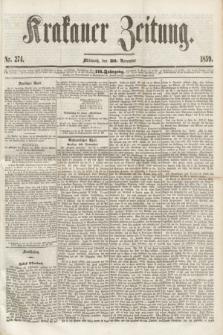 Krakauer Zeitung.Jg.3, Nr. 274 (30 November 1859) + dod.