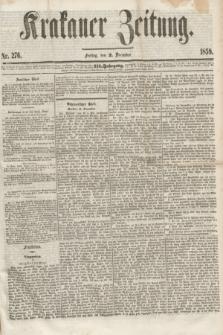 Krakauer Zeitung.Jg.3, Nr. 276 (2 December 1859)