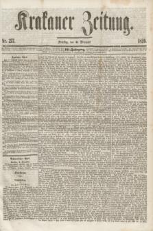 Krakauer Zeitung.Jg.3, Nr. 277 (3 December 1859) + dod.