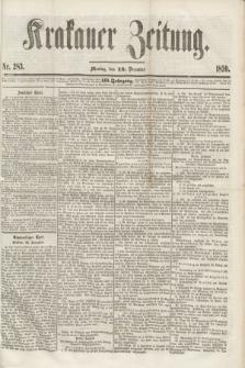 Krakauer Zeitung.Jg.3, Nr. 283 (12 December 1859)