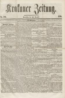 Krakauer Zeitung.Jg.3, Nr. 286 (15 December 1859)