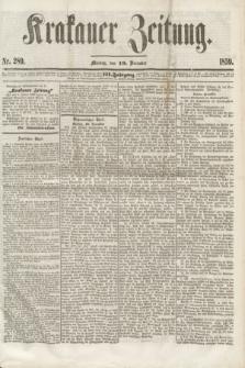 Krakauer Zeitung.Jg.3, Nr. 289 (19 December 1859) + dod.