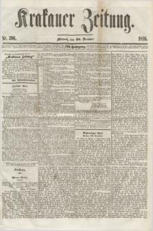 Krakauer Zeitung.Jg.3, Nr. 296 (28 Dezember 1859) + dod.