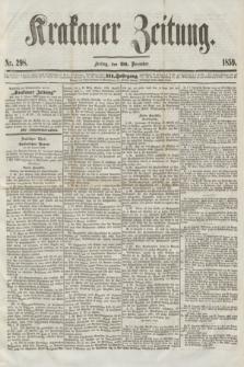 Krakauer Zeitung.Jg.3, Nr. 298 (30 December 1859)