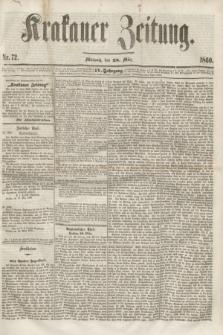Krakauer Zeitung.Jg.4, Nr. 72 (28 März 1860) + dod.