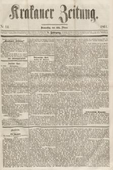 Krakauer Zeitung.Jg.5, Nr. 14 (17 Jänner 1861)