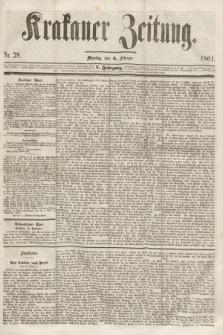 Krakauer Zeitung.Jg.5, Nr. 28 (4 Februar 1861)