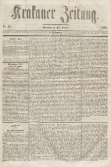 Krakauer Zeitung.Jg.5, Nr. 48 (27 Februar 1861)