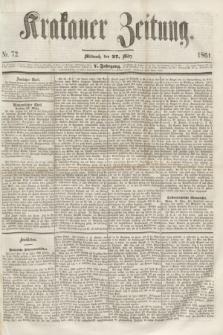 Krakauer Zeitung.Jg.5, Nr. 72 (27 März 1861) + dod.