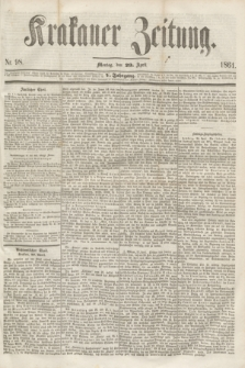 Krakauer Zeitung.Jg.5, Nr. 98 (29 April 1861)