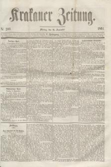Krakauer Zeitung.Jg.5, Nr. 206 (9 September 1861)