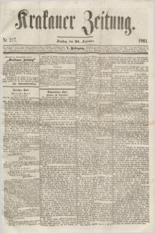 Krakauer Zeitung.Jg.5, Nr. 217 (21 September 1861)