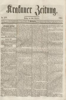 Krakauer Zeitung.Jg.5, Nr. 219 (24 September 1861)