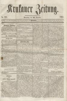 Krakauer Zeitung.Jg.5, Nr. 221 (26 September 1861) + dod.