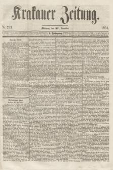 Krakauer Zeitung.Jg.5, Nr. 273 (27 November 1861)