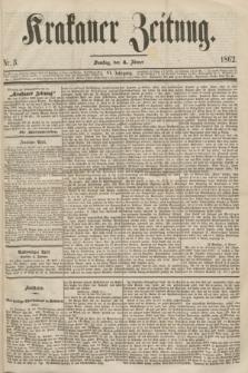 Krakauer Zeitung.Jg.6, Nr. 3 (4 Jänner 1862)