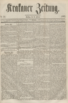 Krakauer Zeitung.Jg.6, Nr. 32 (8 Februar 1862)