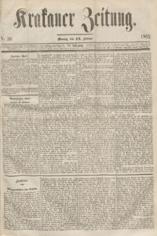 Krakauer Zeitung.Jg.6, Nr. 39 (17 Februar 1862)