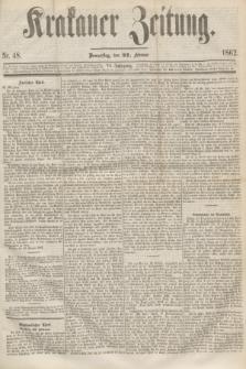Krakauer Zeitung.Jg.6, Nr. 48 (27 Februar 1862)